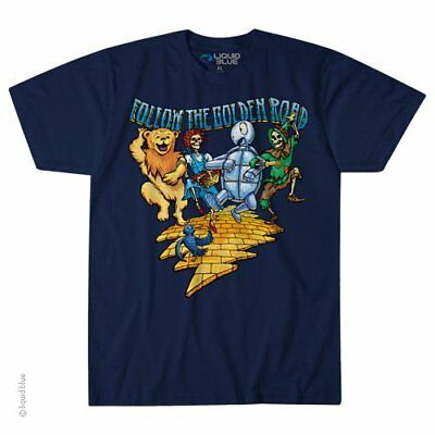 GRATEFUL DEAD-FOLLOW THE GOLDEN ROAD-Bear-Bertha-Terrapin-Bolt-TSHIRT M-L-XL-2X