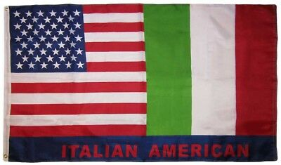 3x5 USA American Italy Friendship 150D Woven Poly Nylon Flag 5x3 Banner