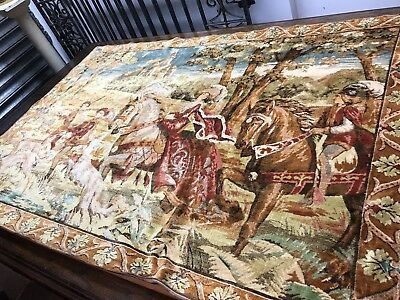 Large Old Wall Hanging Tapestry.