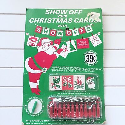 Vintage Show Off Your Christmas Cards With Show-Offs 1964 Pack Of 25