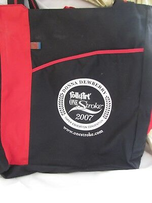 Hard To Find-Large  Folkart One Stroke Tote Bag - Donna Dewberry 2007