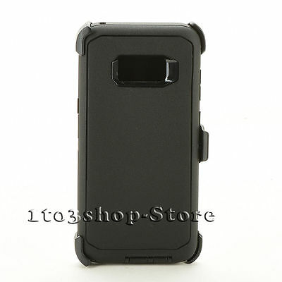 Samsung Galaxy S8+ Plus Case w/Holster Belt Clip fits Defender - Black