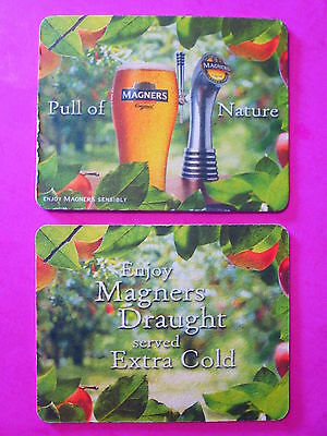 Beer Brewery COASTER ~*~ MAGNERS Draught Apple CIDER Brewed by Bulmers ~ Ireland