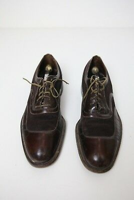 Wright Arch Preserver Shoes Oxford, Brown leather with brown suede inlay 8.5