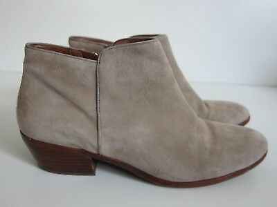 ae4b1d0a40f0 Sam edelman Petty Beige Leather Zip Up Ankle Bootie Boot Women s Size 9.5