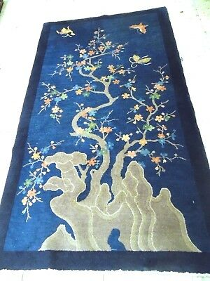 Antique Peking Chinese oriental Rug.