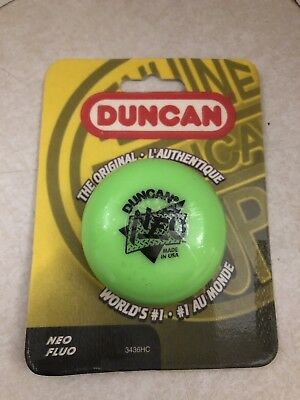 NEW! 1999 Vintage DUNCAN Green NEO Imperial Yo-Yo New on Card Sealed! # 3436HC