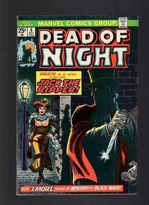 Dead of Night #6    Jack the Ripper story and cover