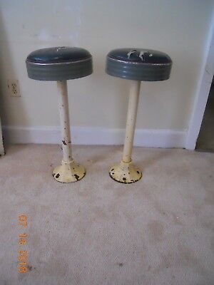 vintage cast iron swivil bar/soda fountain stools   $225.00 pair