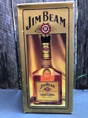 Jim Beam Gold Label 1 Litre Sealed With Box Super Rare Collector's Item