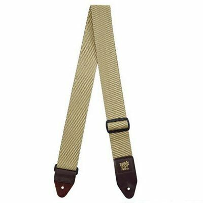 Ernie Ball 2in Polypro guitar strap with leather ends, Tweed 4100