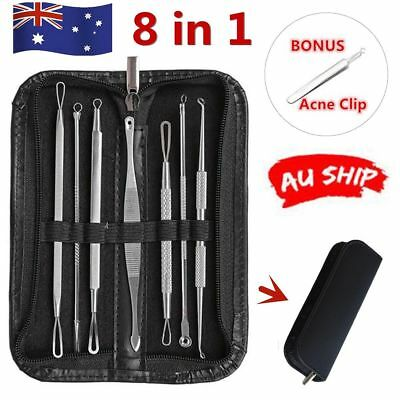 Blackhead Extractor Tool Remover Pimple Popper Blemish Comedone Kit Acne