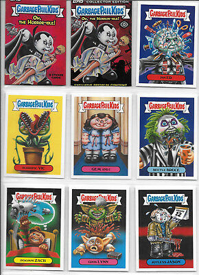 Garbage Pail Kids 2018 Oh, The Horror-ible Complete 200 Card Set Plus Wrappers