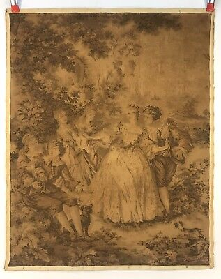 Antique Vintage French France Romantic Wall Tapestry