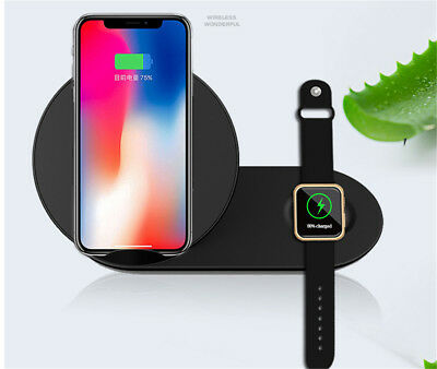 US 2 in 1 Wireless Charger Charging Stand Dock for Samsung Galaxy Watch Earphone