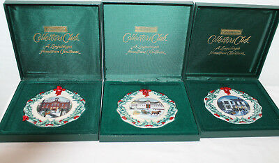 Lot Of 3 New  Longaberger Collectors Club Christmas Ornament, 96, 97 & 99, Boxes