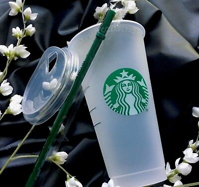 Starbucks Reusable To Go Cup Frosted Venti 24oz Tumbler Sippy Lid VALENTINES DAY
