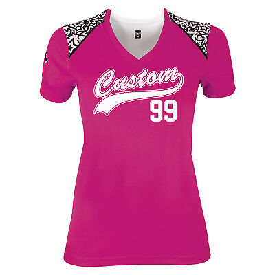Custom Softball Jerseys for Women / Youth and Adult Sizes / V-Neck Jersey