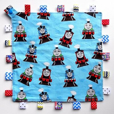 Thomas & Friends Taggie Taggy Tag Blanket Toy Comforter dummy clip holder snap