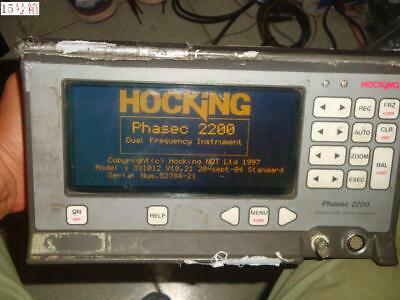 Broken Shell Hocking Phasec 2200 Universal Eddy Current Flaw Detector W/O Probe