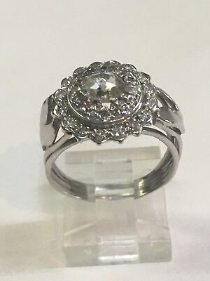 Vintage Palladium Engagement 0.81 CT.TW. Diamond Ring size 7