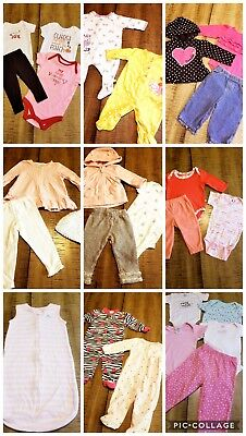 LOT Of 29 Pc Girls Sz 3/6 Months  Spring Summer Outfits Clothes