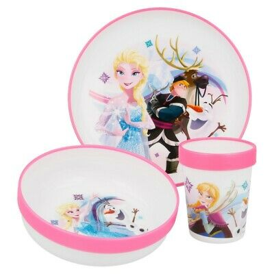 SET PREMIUM BICOLOR 3 PCS (PLATO, CUENCO y VASO 260ml PREMIUM BICOLOR) FROZEN I