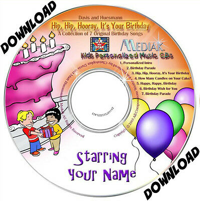 HIP HIP HOORAY IT'S YOUR BIRTHDAY  Personalised Music Album DOWNLOAD