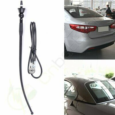 """Universal 16"""" Black Car Radio AM/FM Aerial Antenna with 4FT Extension Cable"""