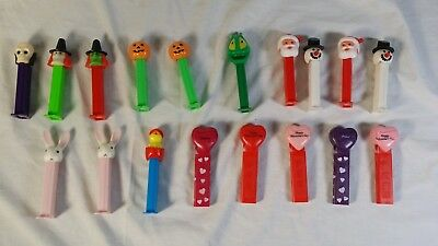 Pez Dispensers Lot Halloween Valentines Hearts Prince Xmas Santa Easter Bunny