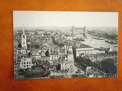 cpa ROYAUME UNI - LONDON from the monument- England - 1911