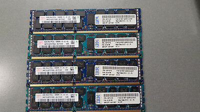 HYNIX 32GB (8GB x 4) PC3-10600R DDR3-1300 REGISTERED ECC MEMORY HMT31GR7CFR4A-H9