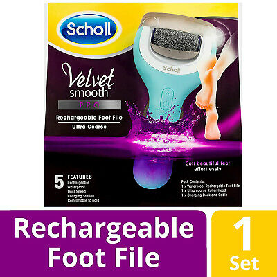 Scholl Velvet Smooth Pro Rechargeable Ultra Course Foot File For Soft Feet
