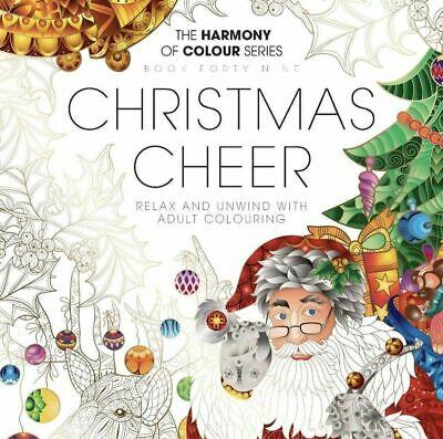Harmony of Colour Book Issue 49 Christmas Cheer Adult Colouring - Free Postage
