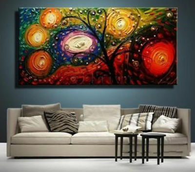 ZOPT157 abstract landscape tree hand painted art OIL PAINTING ON CANVAS