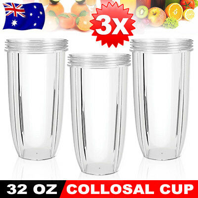 3X NUTRIBULLET COLOSSAL 32OZ BIG LARGE TALL CUP for Nutri Bullet 600 & 900W AU