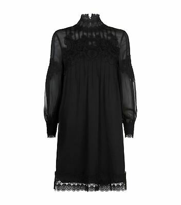 Ted Baker Anneah High Neck Lace Long Sleeve Tunic Ted Size 3