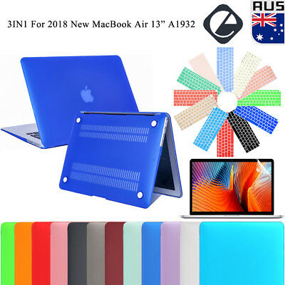 "For 2018 New MacBook Air 13.3"" A1932 Rubberized Shell Case + Keyboard Cover +LCD"