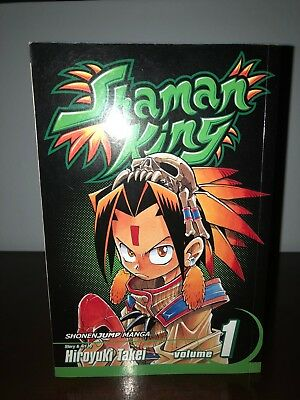 Shaman King Manga Vol 1 in good condition, Slight yellowing