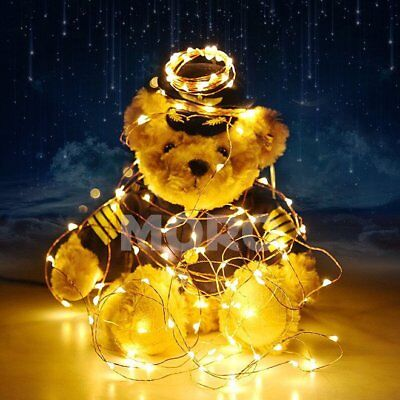 Warm White 10M LED Copper String Fairy Lights WITH Remote 9 Modes CA Local Ship
