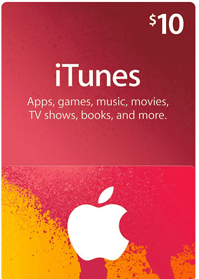 iTunes Gift Card $10 US Apple / App Store Key Code | American USA | iPhone etc..