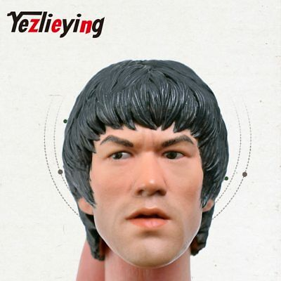 Exquisite man 1/6 head sculpt Asia kung fu star Bruce Lee 12'' figure action
