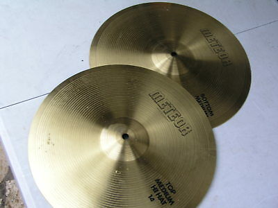 2 Becken Meteor Top und bottom medium Hihat 14""