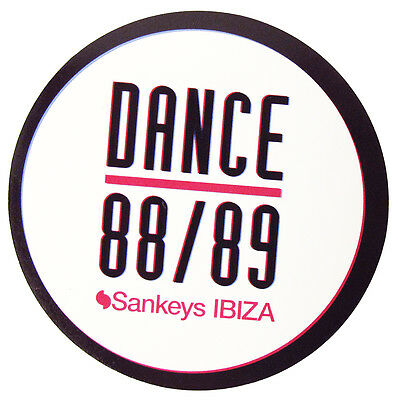 OFFICIAL Sankeys Ibiza Club Sticker Carnival Cities Logo Large Black 9.5cm