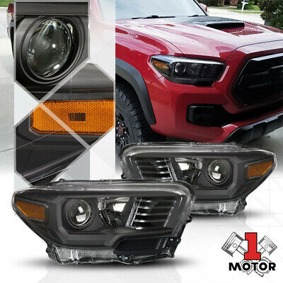 BLACK HOUSING PROJECTOR Headlight Clear Signal Reflector for