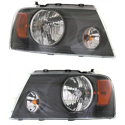 Headlight Set For 2007-2008 Ford F-150 Left and Right Gray Housing CAPA 2Pc