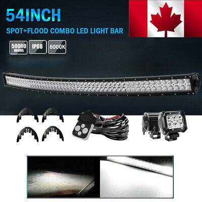 """54""""inch Cree Curved Led Light Bar Spot Flood Combo Offroad Driving Dodge 4Wd 55"""