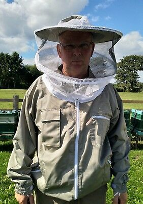 khaki Beekeeping jacket bee hive