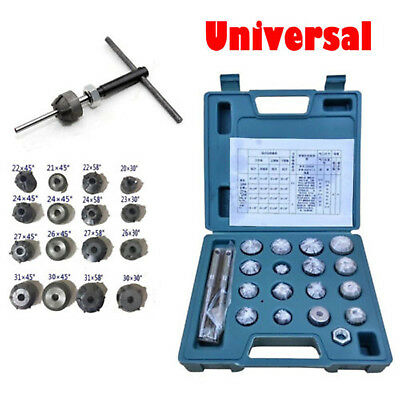 Universal Valve Seat Reamer Motorcycle Repair Kits Displacement Cutters Tool Set