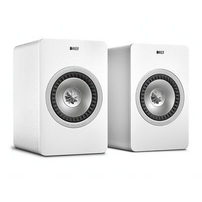 KEF X300A Wireless Active Speakers (Pair) WHITE Wifi Airplay Powered Studio DAC
